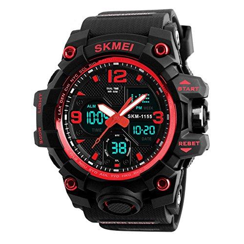 HiChili LED Stoßfest für Herren Uhren-Armbanduhr Sportuhren