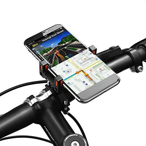 Vogek Alloy Fahrrad Handyhalter, Universal Handyhalterung Fahrrad Motorrad Handy Halterung Lenkerhalter für iPhone X/8/8 Plus/7/7 Plus, Samsung Galaxy & Allen Handy mit 4,0-6,5 Zoll