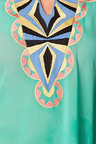 Unbekannt - Chemisier - Tunique - Uni - Sans Manche - Femme Vert