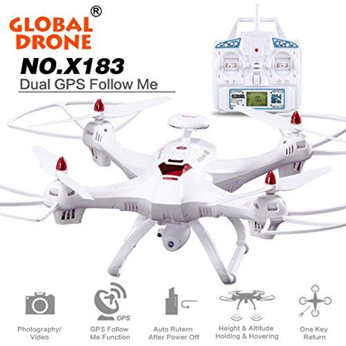 wer Drone 6-Achsen mit 2MP WiFi FPV HD Kamera GPS Brushless Quadcopter Unterstützung VR (Weiß) (Schlüssel Zur Realität)