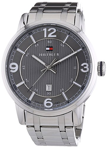 tommy-hilfiger-george-mens-quartz-watch-with-black-dial-analogue-display-and-silver-stainless-steel-