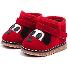 Botas Unisex de Nieve de Niñas Niños de PU de Perrito de Dibujos Animados Zapatos de
