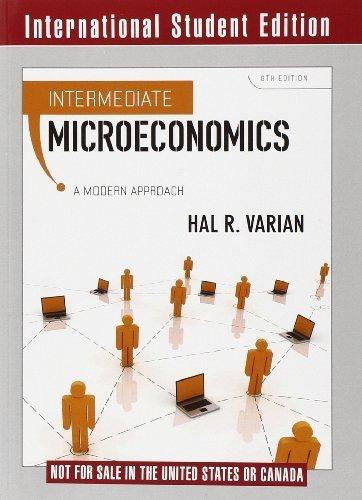 Intermediate Microeconomics: A Modern Approach by Hal R Varian (2010-01-19)