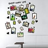 Wandaufkleber, Merssavo 1 Satz Bild Foto Frame Herz Wandtattoo Wandsticker Kunst Hause Zimmer Dekoration Aufkleber DIY