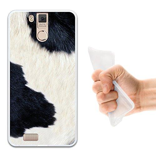 Oukitel K6000 Pro Hülle, WoowCase Handyhülle Silikon für [ Oukitel K6000 Pro ] Tier Kuhdruck Handytasche Handy Cover Case Schutzhülle Flexible TPU - Transparent