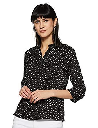 KRAVE Women's Polka Dot Regular Fit Top