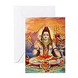 CafePress–Lord Shiva Meditieren–Grußkarte, Note Karte, Geburtstagskarte, innen blanko, matt