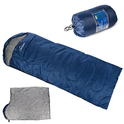 Campela Schlafsack mumienschlafsack Deckenschlafsack Decke CA0040 BLU NEU ultraleicht Sommer Outdoor (Leistung Mumie)
