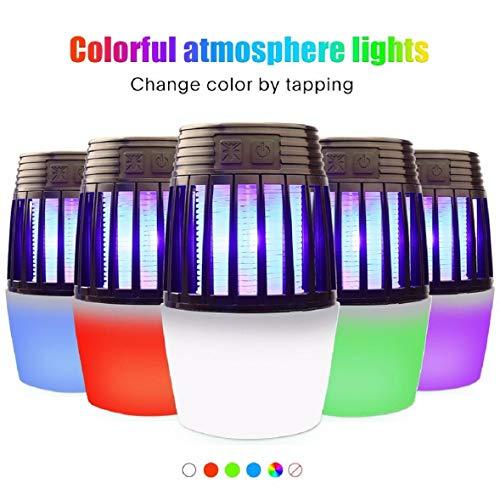 Vaycally Zapper Zelt Licht, Moskito-Mörder-Lampe, elektronisches Insekt, sicheres USB-angetriebenes Moskito mit eingebautem Ventilator Insektenfalle für Innen- im Freienschlafzimmer-Baby-Raum-Küchen - Dunkle Messing-stecker