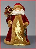 Babbo Natale puntale per albero di Natale o decorazione natalizia, 30 cm, colore: rosso