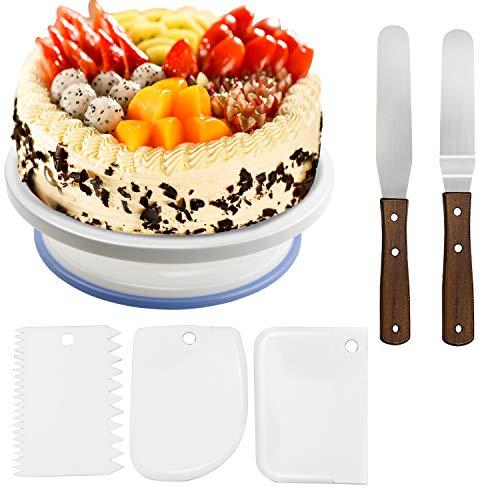 Soporte de torta giratorio de placa de pastel de wisfox...