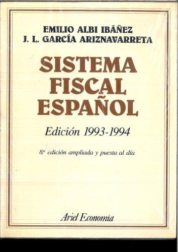 Sistema fiscal español (93-94 8 edicion)