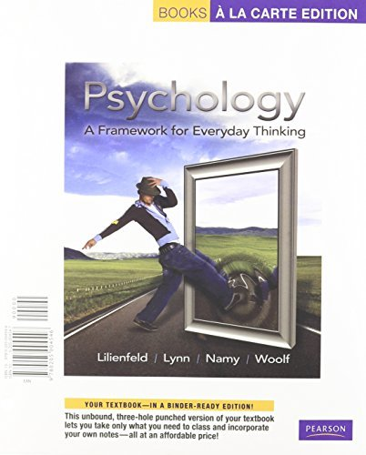 Psychology: A Framework for Everyday Thinking, Books a la Carte Plus MyPsychLab -- Access Card Package by Scott O. Lilienfeld (2010-07-03)