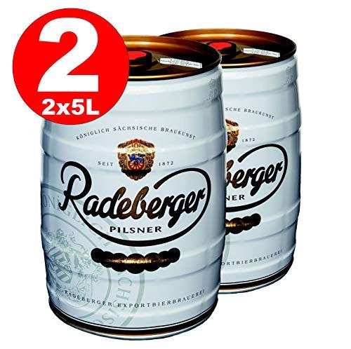 2 x Radeberger Pilsener 5 Liter Partyfass 4,8{119b14c16e115077177cd5edeab4513ffe597c26bcee5f1013589f3251b55b19} vol - EINWEG