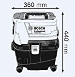Bosch 06019E51K0 GAS 15 PS Professional Wet and Dry Dust Extractor with Power Socket