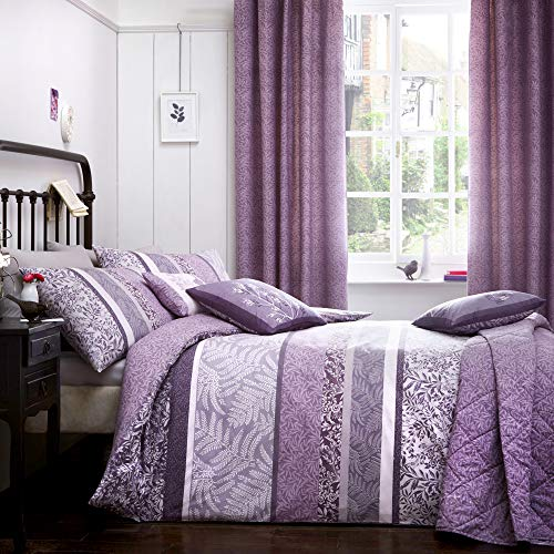 Dreams & Drapes - Hanworth - Easy Care Duvet Cover Set - King, Heather