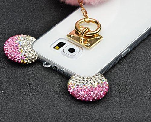 Cover Samsung Galaxy Note 5 N9200 360 Gradi,Custodia Full Body Samsung Galaxy Note 5 N9200,Fronte Retro trasparente Ultra Sottile Silicone Case Molle di TPU Sottile 3 in 1 Protezione Completa Glitter  design 04