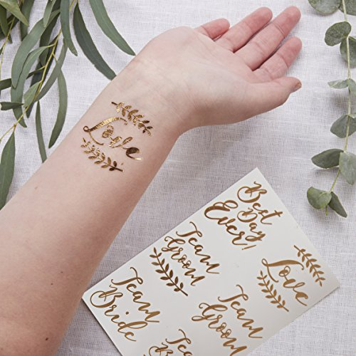 Ginger Ray Rose Gold Temporary Wedding Tattoos