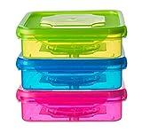 Set of 3Sandwich-Behälter für Lunch-Boxen–Sandwich Box für Kinder & Erwachsene (Multi Farbe)
