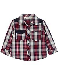 Beebay Infant-boy Corduroy Patch Check Shirt (Maroon Check)