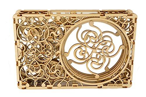 WOODEN CITY Mechanical Picture Wooden Model 3D, bois, blanc, 34.7 x 23.1 x 6,2 cm
