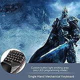 Delux T9 Plus 29 Keys Single Hand Mechanical Keyboard USB Wired Keyboard