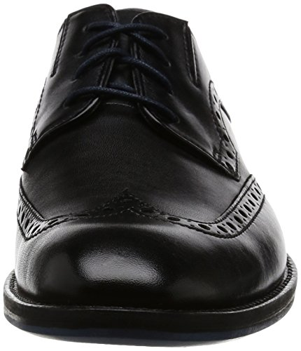 Clarks Prangley Limit, Scarpe Stringate Basse Brogue Uomo Nero (Black Leather)