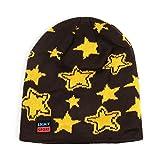 LUFA Außenhandel Unisex Thicken Velvet Strickmütze Fünf-spitze Stern-Muster Yellow stars