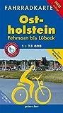 Fahrradkarte Ostholstein, Fehmarn bis Lübeck: Mit Ostseeküsten-Radweg. Maßstab 1:75.000. Wasser- und reißfest. (Fahrradkarten) -
