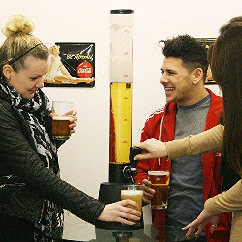 51TN%2BE1scwL. SS500  - bar@drinkstuff Gulp Beer Tower Drink Dispenser | 3.5ltr Beer Dispenser, Tabletop Beer Tower, Home Beer Tower, Home Beer…