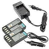 DSTE 2-pack Rechange Batterie et DC112E Voyage Chargeur pour Pentax D-Li109 K-R K-30...