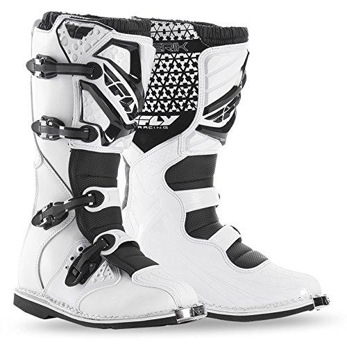 Fly Racing Motocross / Mx Steifel Maverik weiß Größe: 45 Boot Schuh (Unisex Racing Schuhe)