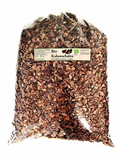 Bio Kakaoschalen Mulch für Haus und Garten. Ganz natürlich ohne Pestizide auch für Innenräume geeignet. Dekoration und Bio Alternative zu Rindenmulch. Lose fallend, keine Pressware (5 kg)