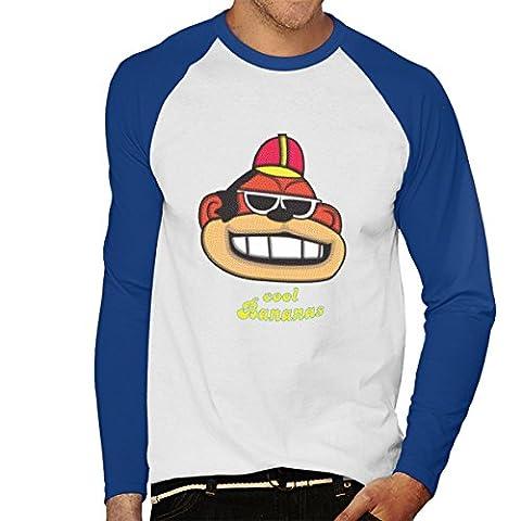 Cool Bananas Bingo Banana Splits Men's Baseball Long Sleeved T-Shirt