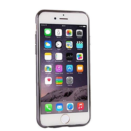 Wkae Case & Cover Lattice Housse de protection Texture Electroplating TPU pour iPhone 6 &6s ( Color : Pink ) Black