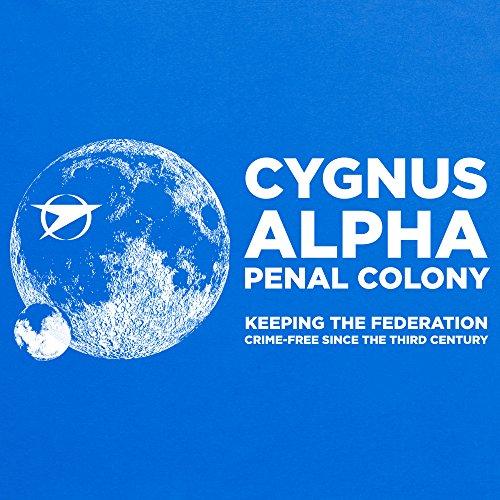 Official Blake's 7 T-Shirt - Cygnus, Herren Royalblau