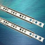 2 Schubladenschienen EDELSTAHL Teilauszug Rollenauszug Teleskopschiene Kugelführung Schubladenauszug H: 17 / L: 246 mm