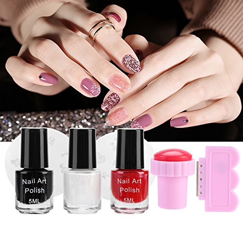 Nail décoration vernis à ongles nail stamper nail art timbres DIY Nail Impression Stamp Template Kit