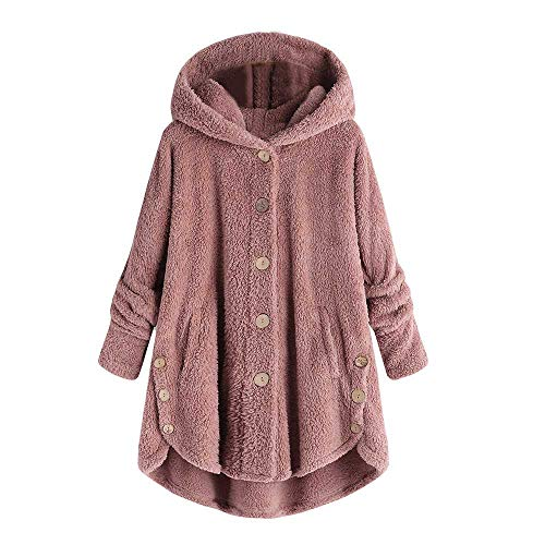 VECDY Jeans Damen Mantel Mode Frauen Knopf Mantel Fluffy Tail Tops Kapuzenpullover Lose Strickjacke Mode Sweatshirt Pullover Mode Bluse S-5XL -