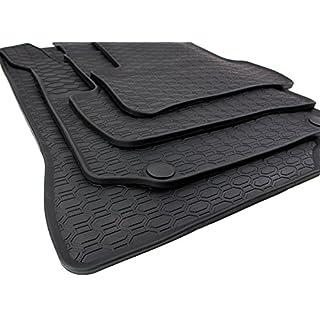 AME - Auto-Gummimatten in schwarz und Wabendesign, Geruch-vermindert und passgenau mit verbauten Befestigungen 852/4C