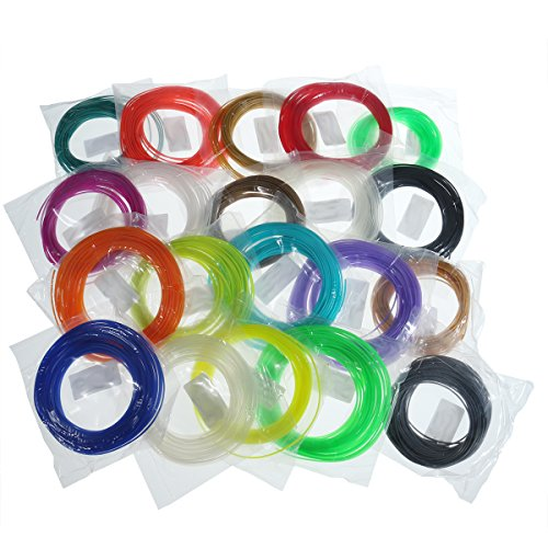 MASUNN 20 Couleurs/Pack 5/10M Longueur par Couleur Pla 1,75 Mm Filament pour L'Impression 3D Stylo 0.4 Mm Buse-#5