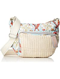 Oilily Whoopy Ornament Shoulderbag Svz, Shoppers y bolsos de hombro Mujer, Turquesa (Light Turquoise), 7x22x31 cm (B x H T)