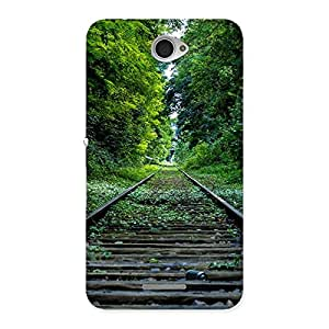 Special Beautiful Track Green Back Case Cover for Sony Xperia E4