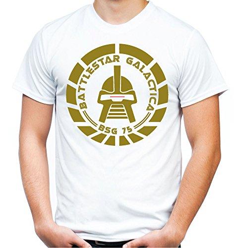 Battlestar Galactica Männer und Herren T-Shirt | Spruch Vintage Cylon Geschenk | M2 (L, (Battlestar Galactica Uniform Kostüm)