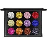 Best LA Colori Powder Foundation - valuem akers 12colori Glitter Powder Makeup Palette Professional–Durevole Review