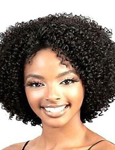 Perruque & xzl Perruques Fashion glueless profonde bouclés courte perruque de cheveux de femmes à la mode pour les afro-américaine