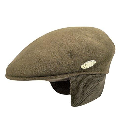 Kangol Herren Wool 504 Earlap Mütze, Grün (Camo), Herstellergröße: Small (Kangol-hüte Camo)