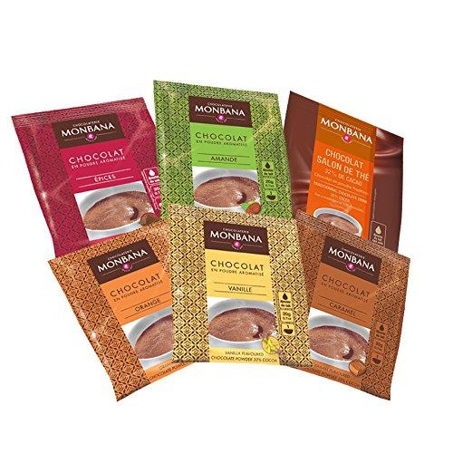 Monbana Trinkschokolade Probierset 6 x 20 g