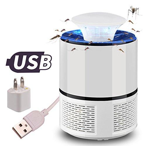 Elektrischen moskito insekten zapper Lampe elektronische moskito-mörder,Chemiefreie usb powered uv-led-licht photocatalyst fly bug bedeutet mit sauggebläse für indoor home-Weiß 13x19cm(5x7inch)