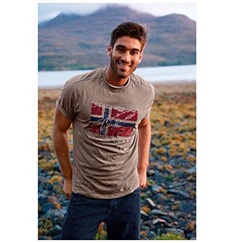 JAN VANDERSTORM Herren T-Shirt SIGISMUND in Übergröße bis 6XL - NEU - Beige